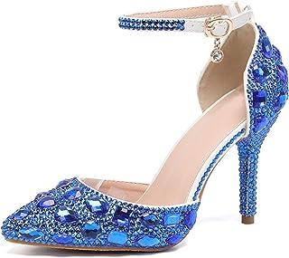 Women's Rhinestone Wedding Shoes Party Pumps Sandals