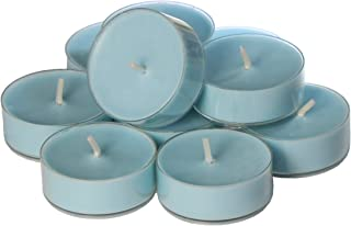 CandleNScent Light Blue Scented Tea Light Candles - Fresh Linen Fragrance - Made in USA - Pack of 12