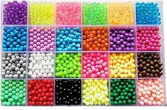 vytung Abalorios Cuentas de Agua 3600 Perlas 24 Colors(6 Brillar en Oscuridad) Niños Craft Kits (Beads Refill Set)