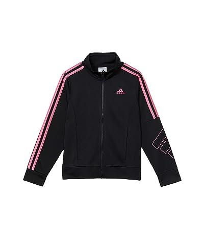 adidas Kids Event 20 Jacket (Big Kids) (Black/Pink) Girl