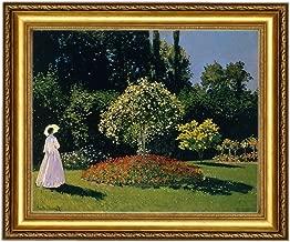 Eliteart-Jeanne Marguerite Lecadre in the garden By Claude Monet Giclee Art Canvas prints-Framed Size:29 1/2