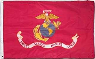 Valley Forge Marine Corps Flag 4x6 Foot Perma-Nyl