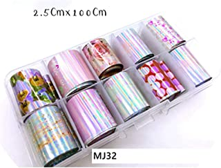 31 Types Charm Nail Foils Polish Stickers Metal Color Starry Paper Transfer Foil Wraps Adhesive Decals Nail Art Decorations,Download