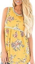 YOUCOO Women Summer Sleeveless Shirt Casual Print Flowy Tunic Tank Top