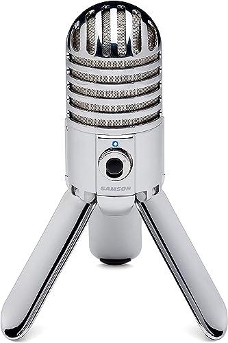 2021 SAMSON high quality Meteor lowest Mic USB Studio Condenser Microphone (Chrome) sale