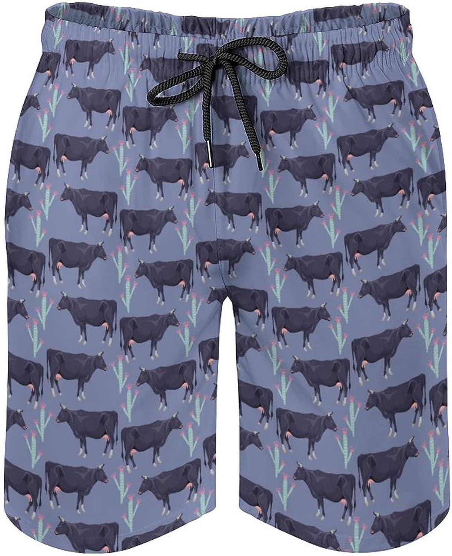 SWEET TANG Men's Swim Trunks Quick Dry Swim Shorts with Mesh Lining Funny Swimwear Bathing Suits