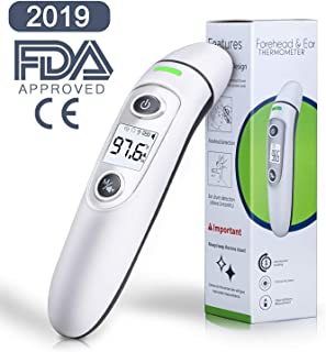 Baby Thermometer, WETONG Forehead & Ear Thermometer Digital Infrared Temporal Thermometer for Fever, Instant Accurate Reading for Baby Kids and Adults - FDA Certification