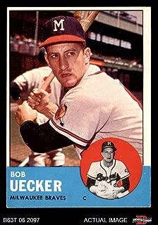1963 Topps # 126 Bob Uecker Milwaukee Braves (Baseball Card) Dean's Cards 4 - VG/EX Braves