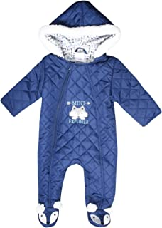 Newborn Baby Boys & Girls Quilted Pram Snowsuit