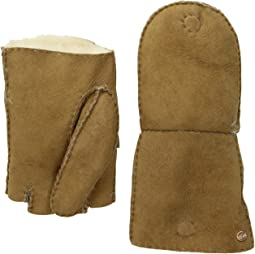 Fingerless Water Resistant Sheepskin Flip Mitten