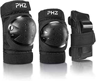 PHZ. Adult/Kids Knee Pads Elbow Pads Wrist Guards 3 in 1 Protective Gear Set for Skateboarding, Roller Skating Cycling Biking Snowboarding
