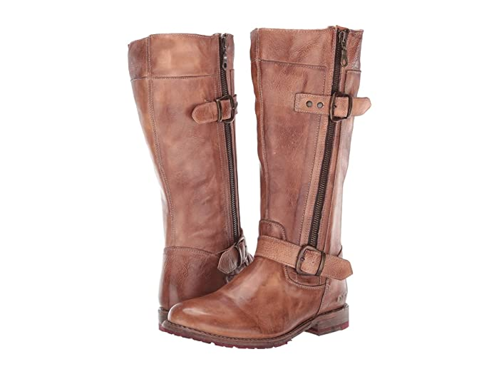 Bed Stu Gogo Lug Wide Calf (Tan Rustic) Women's Boots