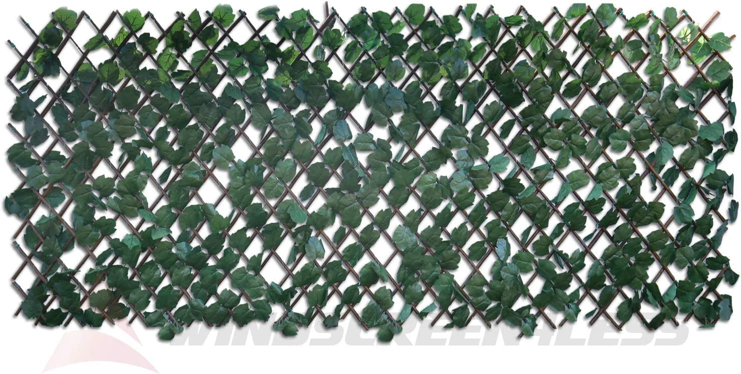 Windscreen4less discount Artificial Leaf Faux Sacramento Mall Stretchable Ivy Expandable