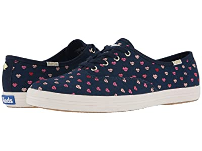 Keds x kate spade new york Champion Twill Lips (Navy) Women