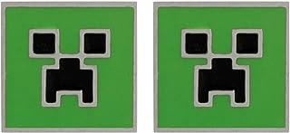 Pendientes–Minecraft–Creeper Stud con licencia j6654