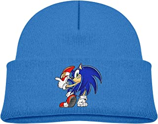 Soft Baby Cap Knitted Hat for Baby with Lovely Sonic Hedgehog Pattern