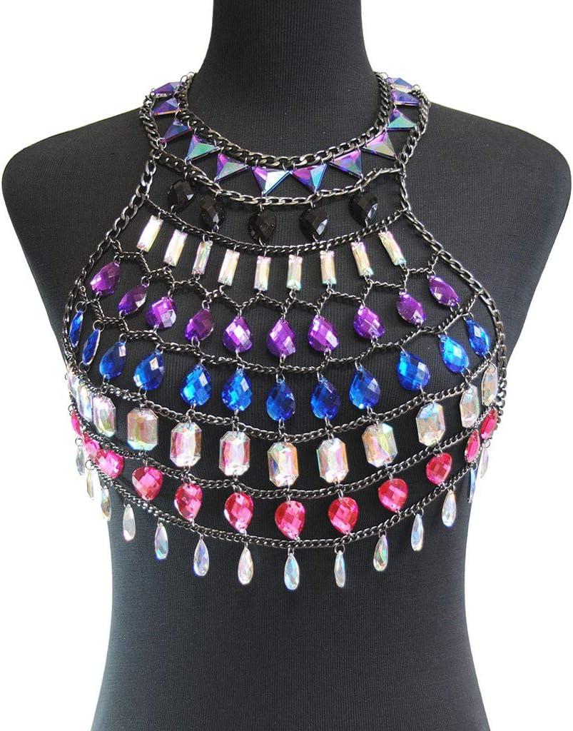 Openwork Gemstone Skirt Ladies Body Chain Necklace Bikini Beach Body Chain Pendant Pajamas Multi-Layer Chain