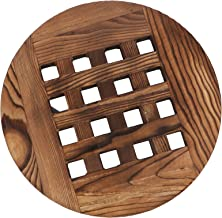 Bestonzon Wooden Plant Caddy Plant Dolly Flower Pot Mover Plant Roller Planter Trolley Tray Potted Plant Stand with Wheels...
