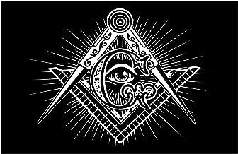 "Shining Square & Compass All Seeing Eye Masonic Poster - 11"" x 17"""