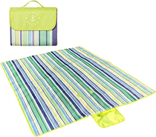Mission Relax Picnic & Outdoor Blanket - Large 58 x 76 Blanket with Water-Resistant Layer and Convenient Carry Handle - Portable and Compact - Great for Family Beach, Park or Camping Trips