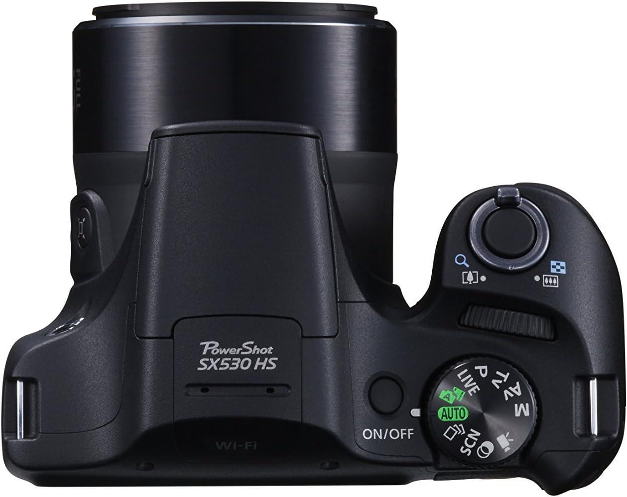 PowerShot SX530 HS Camera Black 16MP 50xZoom 3.0LCD