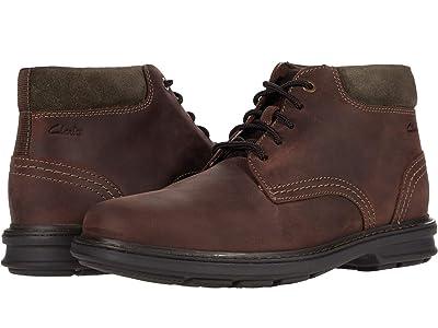 Clarks Rendell Work (Dark Brown Leather) Men