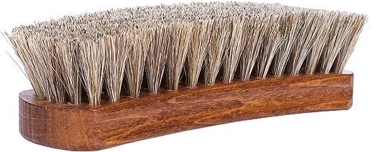 Kaps Premium Quality Shoe Brush Lux, Natural Horsehair, Shine Buff Polish (15Cm Length)