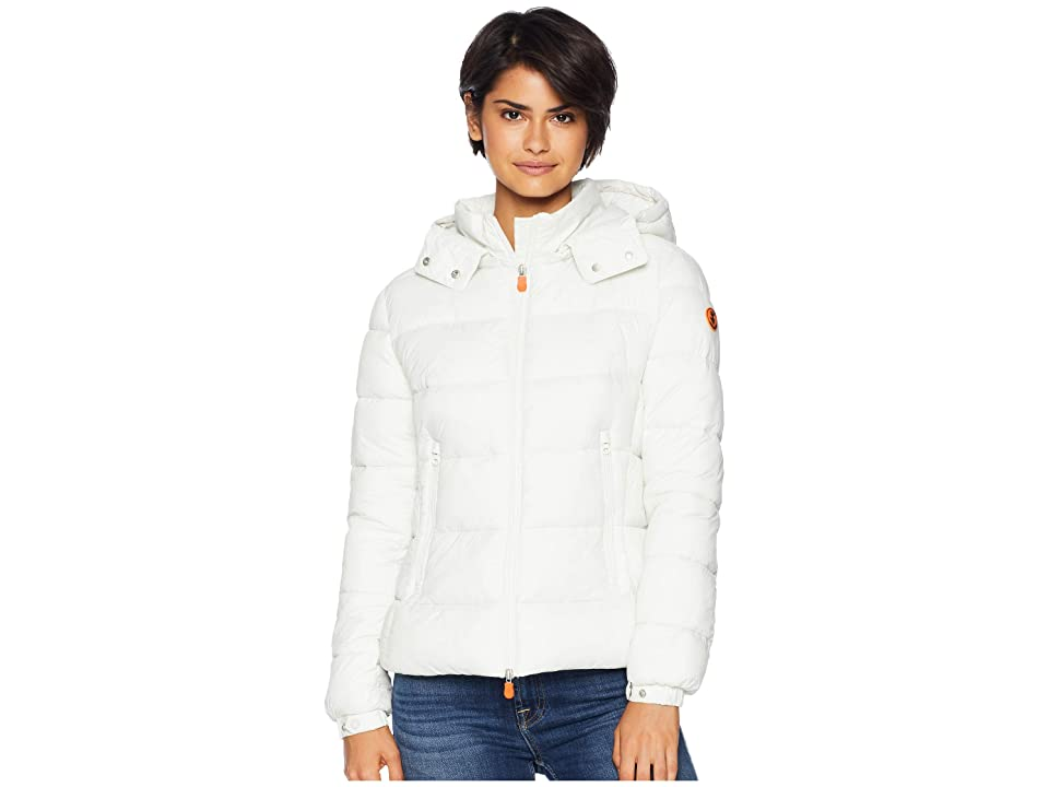 Save the Duck Basic with Removable Hood (Off-White) Women