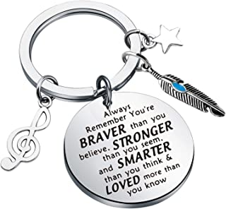 AKTAP Inspirational Hamilton Keychain Broadway Musical Jewelry Always Remember You're Braver Than You Believed Gift for Mu...