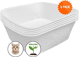 Easyology Large Disposable Cat Litter Box - Odor Control Disposable Litter Boxes Cats - Durable Waterproof Disposable Kitty Litter Box - Travel Litter Box - Disposable Litter Boxes Cats