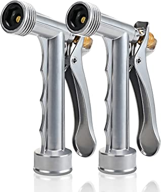 Skytree Hose Nozzle 2 Pack, Pistol Nozzle Durable Metal High Pressure Garden, Full Size, Pistol Grip, Rear Control