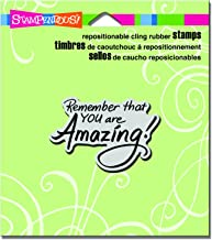"Stampendous CRH325 You are Amazing Cling Stamp, 3.5"" by 4"", Grey"