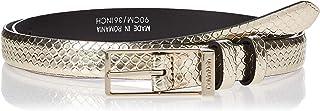 Calvin Klein Women's WINGED 2.0 SN Belt, Beige, 90 cm