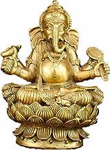 Brass Ganapati Ganesh Lord Ganesha Elephant Buddha Statue (16#)