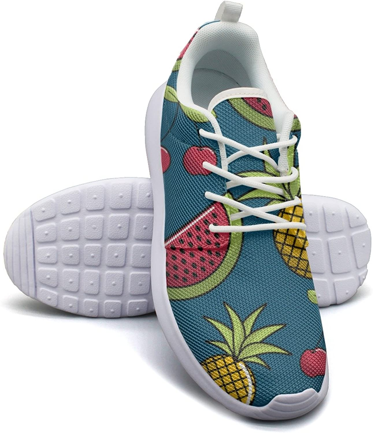 Natural Watermelon And Pineapple Fruit Women's Fashion Running shoes Popular Mesh Lightweight Sneakers