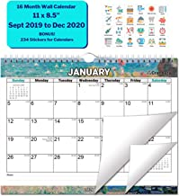 Wall Calendar 2020 (Impressions) 11x8.5 Inch, Use Now to December 2020, Monthly Wall Calendar, Stunning Impressionist Designs, with Stickers for Calendars, by Cranbury