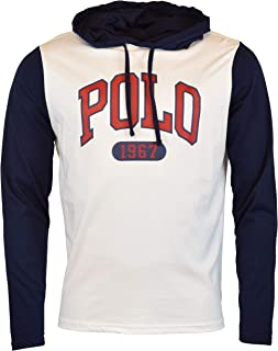 Polo Ralph Lauren Mens Accented Graphic 'Polo' Hooded T-Shirt