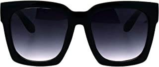 SUPER Oversized Square Sunglasses Womens Modern Hipster Fashion Shades