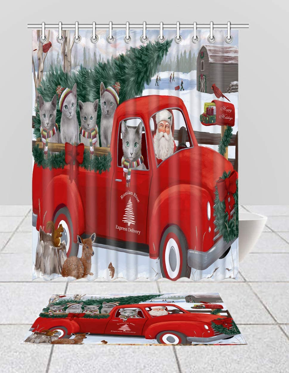 Christmas Santa Oklahoma City Mall Express Delivery Red Russian Sho Blue Truck 5% OFF Cats