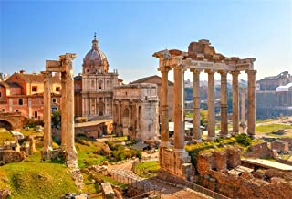 CSFOTO 6x4ft Background For Panorama of Roman Forum Photography Backdrop Ancient Ruins Historical Culture Old Building Temple History Landmark Travel Vacation Photo Studio Props Wallpaper