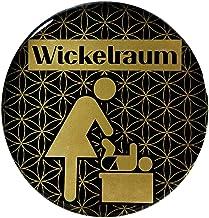 BIKE-label 900121VA Gold 3D sticker deurplaat wikkelruimte waarschuwingsbord 70 mm