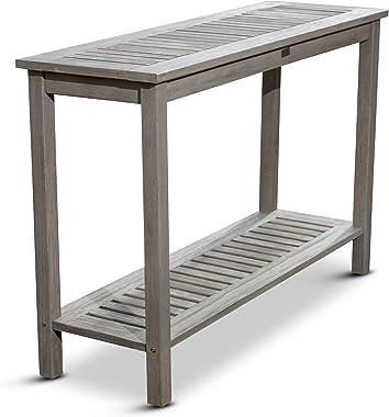 DTY Outdoor Living Longs Peak Eucalyptus Console Table, Driftwood Gray