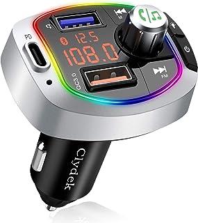 Clydek Bluetooth FM Transmitter,【PD 3.0 & Herunterfahren】Auto Bluetooth Adapter/Funksender mit Freisprecheinrichtung, A2DP Crystal Sound, Musik Player Unterstützung U Disk / TF Karte