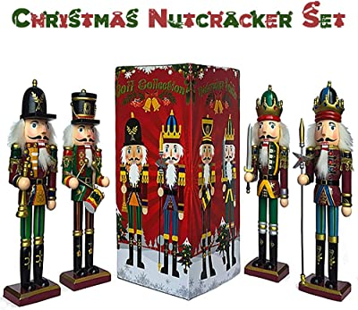 Details about  /12x 6.5-7.5cm Wooden Nutcracker Puppet Doll for Home Lawn Holiday Party
