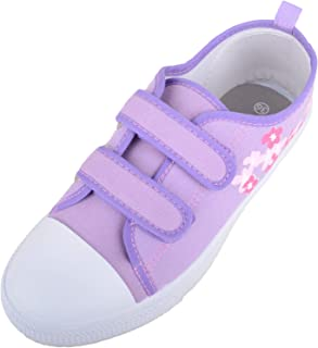 Absolute Footwear Girls/Childrens/Kids Slip On Canvas Shoes/Pumps/Trainers with Ripper Fastening