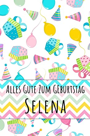 Alles Gute zum Geburtstag Selena: Kariertes Notizbuch mit 5x5 Karomuster für deinen personalisierten Vornamen