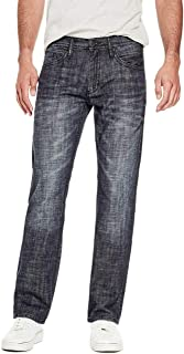 GUESS Factory Men's Rowland Relaxed Straight Jeans