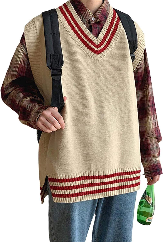 WSBD Spring and Autumn Outerwear Sweater Vest Men's Knitwear Loose Korean Vest