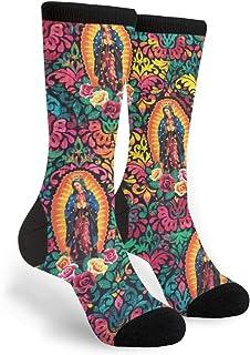 Virgin Mary Religious Unisex Printing Seafarer Socks Deluxe Personality Short Sock 40CM