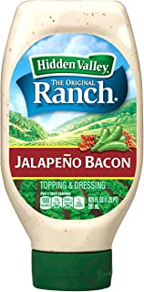 Hidden Valley Easy Squeeze Jalapeno Bacon Ranch Topping & Dressing, Gluten Free - 20 Fluid Ounce Bottle